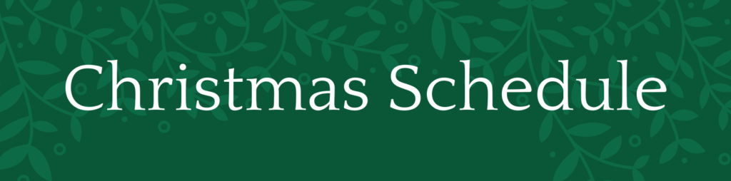 St. Andrew's Christmas Schedule